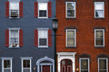 Philadelphia houses Royalty Free Stock Photo