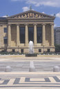 Philadelphia Museum of Art with plaza and fountain in Greek Revival style, Philadelphia, PA Royalty Free Stock Photo