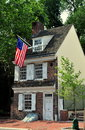 Philadelphia pa c betsy ross house circa at arch street where legend says she lived and designed the first american flag in Stock Photography