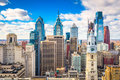 Philadelphia, Pennyslvania, USA Skyline Royalty Free Stock Photo