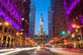 Philadelphia's landmark historic City Hall building Royalty Free Stock Photo