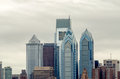 Philadelphia skyline in daylight usa Royalty Free Stock Photography