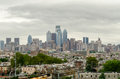 Philadelphia skyline in daylight usa Royalty Free Stock Image