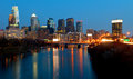 Philadelphia Skyline at Night Stock Photography