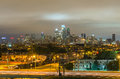 Philadelphia skyline at night usa Stock Photography