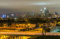 Philadelphia skyline at night usa Stock Photo