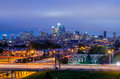 Philadelphia skyline at night usa Royalty Free Stock Photos