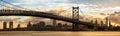 Philadelphia skyline panorama Royalty Free Stock Photo