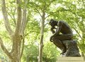 Philadelphia, USA - May 29, 2018: Statue of The Thinker at the R Royalty Free Stock Photo