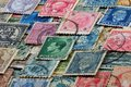 Philately - collecting stamps. Royalty Free Stock Photo