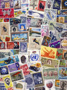 Philately postage stamps of the world international stamp collecting and study is called and is a popular hobby Royalty Free Stock Images