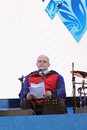 Philip craven rosa khutor sochi russia mar president of the international paralympic committee ipc sir at the ceremony to light Stock Photos