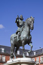 Philip iii equestrian statue plaza mayor madrid spain Royalty Free Stock Photo