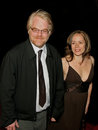 Philip seymour hoffman and mimi o donnell actor longtime girlfriend mother of their children costume designer o'donnell arrive Stock Image
