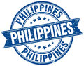 Philippines blue round grunge vintage stamp