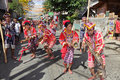 Philippines Bukidnon tribal street dancers Stock Photography