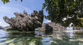 Philippines, Palawan Island, El Nido; Sea, rocks Royalty Free Stock Photo