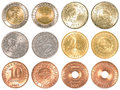 Philippines peso coins collection set Royalty Free Stock Photo