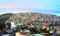 Philippines town baguio city at dusk luzon island Stock Photos