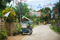 Philippino village with Christmas decorations Royalty Free Stock Photo