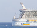 Philipsburg st maarten july royal caribbean allure of the s seas leaving marten on it largest passenger ship ever Stock Photography