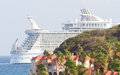 Philipsburg st maarten july royal caribbean allure of the s seas leaving marten on it largest passenger ship ever Stock Images