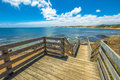 Phillip island walkway spectacular lookout from the wooden in flynns beach in summer victoria australia Stock Image