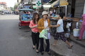 People on the street in Phnom Penh, Cambodia