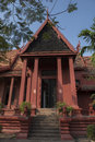 Phnom penh national museum royal palace red building pinnacle roof Royalty Free Stock Photo