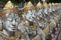 Phnom pros kompong cham cambodia buddhist sculptures at wat in Royalty Free Stock Photo