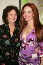 Phoebe price and her mother at champagne and bikinis hosted by geoff thomas designs and featuring his metallic bikinis geoff Royalty Free Stock Photos