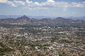 Phoenix arizona skyline looking to the northeast including piestewa peak Stock Images