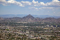 Phoenix arizona skyline looking to the northeast including piestewa peak Royalty Free Stock Photos