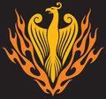 Phoenix bird mythical clip art Stock Image