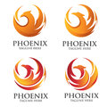 Phoenix circle logo concept Royalty Free Stock Photo