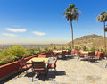 A Phoenix Down 7th Street From Hilltop Patio Shot Royalty Free Stock Photo