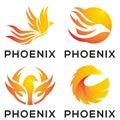 Phoenix Eagle Mascot Logo Design
