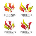 Phoenix logo concept Royalty Free Stock Photo