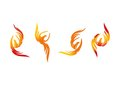 Phoenix, logo, flame, icon, and fire bird concept design Royalty Free Stock Photo