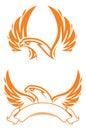 Phoenix sport mascot. Label. Logotype