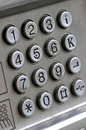 Keypad from a public phone device Royalty Free Stock Photo