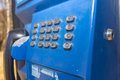 Phone booth detail of dial in photo Royalty Free Stock Photo