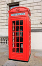 Phone booth in london red on the street of the united kingdom Stock Image