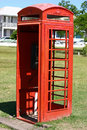 Phone booth a red in independence square in st kitts west indies Stock Photos