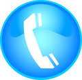 Phone button blue Royalty Free Stock Photo