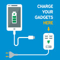 Phone Charging Icon Royalty Free Stock Photo