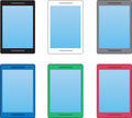 Phone colors cell phones in various Royalty Free Stock Photography