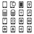 Phone and Communication Icon Set. Vector