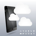 Phone d cloud design elements vector illustration of Royalty Free Stock Image