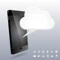 Phone d cloud design elements vector illustration of Royalty Free Stock Photos